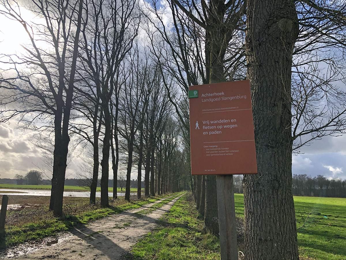 Aankomst op Landgoed Slangenburg