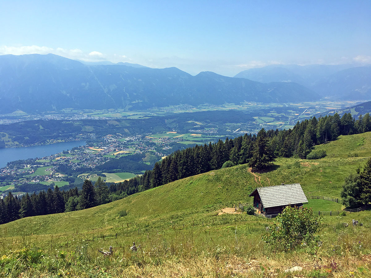 Uitzicht over de Milstätter See