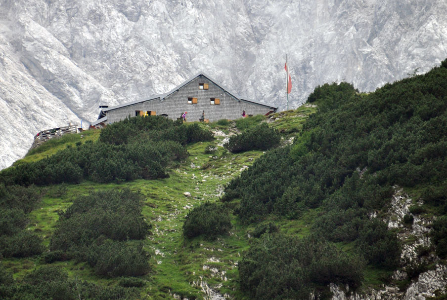 Hiking in the Austrian Alps, sleeping in a mountain hut