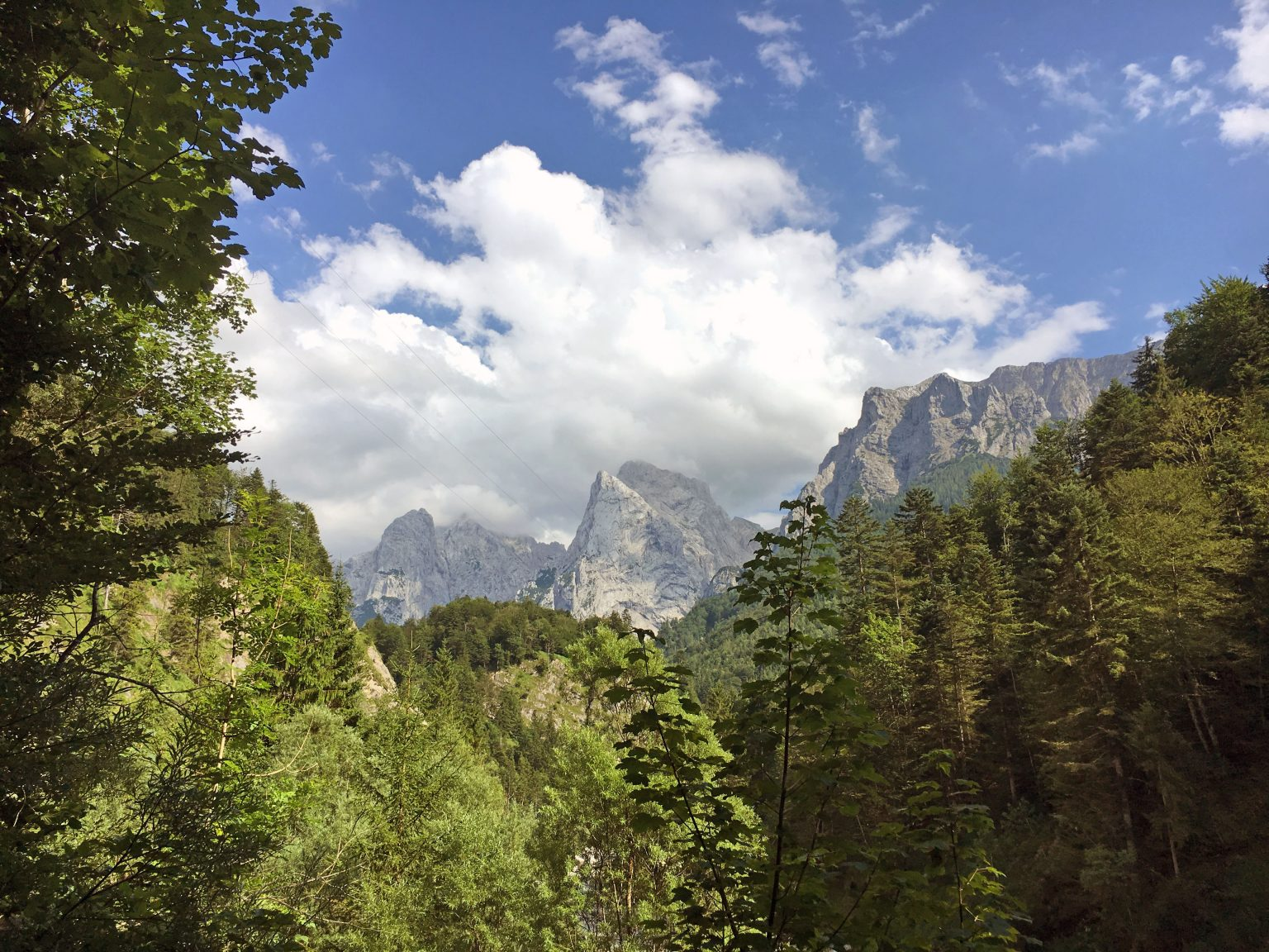 Keep an eye on the weather when hiking in the Austrian Alps
