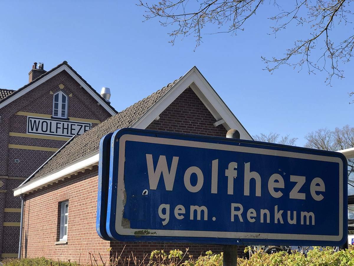 Station Wolfheze - eindpunt van Veluwe Zwerfpad etappe 1