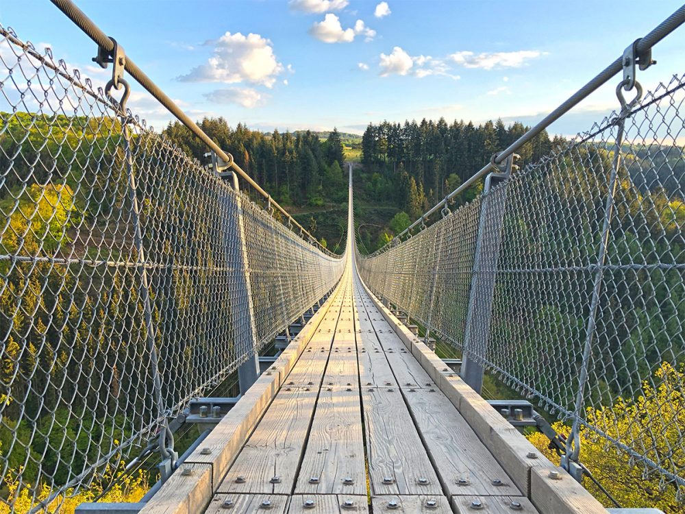 De Geierlay Hangbrug in Duitsland