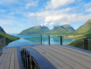 Senja in Norway: where the sun shines behind the clouds