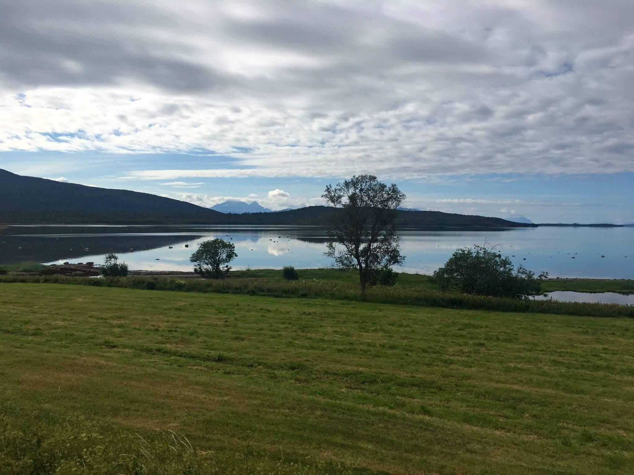 Het binnenland van Senja in Noorwegen