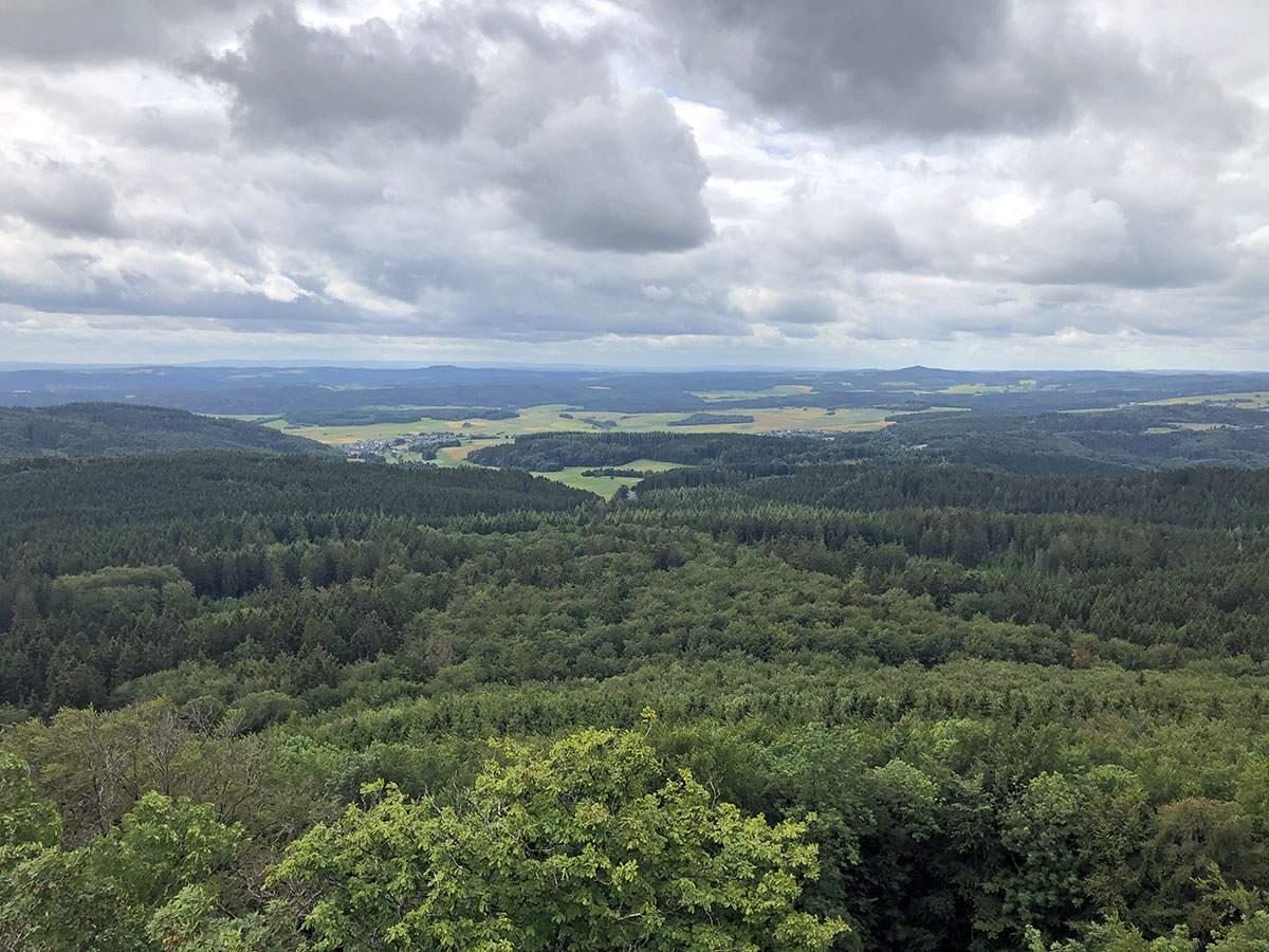 Uitzicht vanaf de Hohe Acht