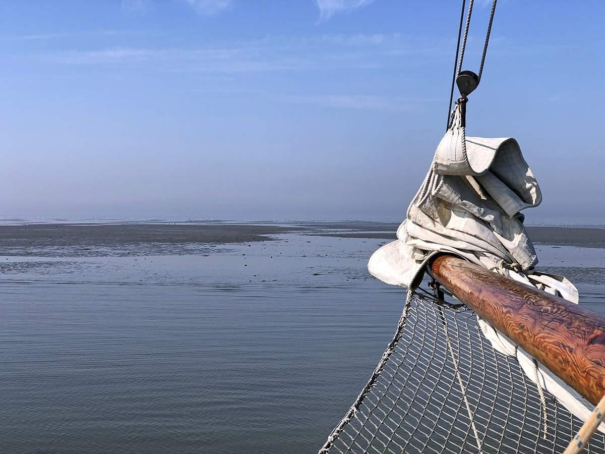 Droogvallen op de Waddenzee