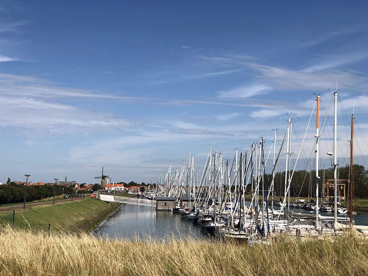De haven van Zierikzee
