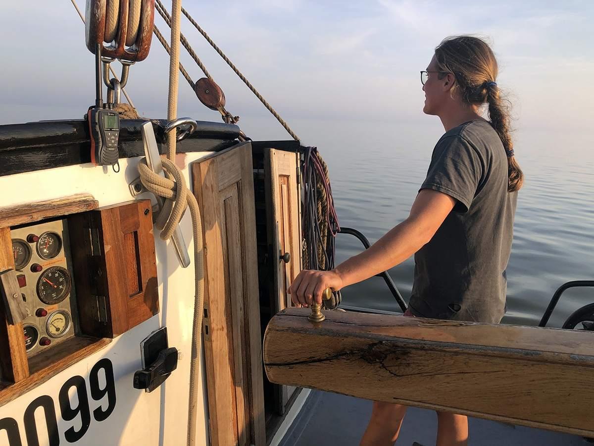 Schipper Maria op de Noordfries