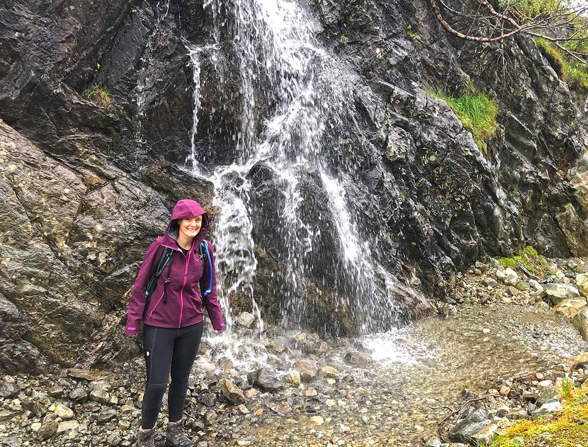 Hiking in Norway in the rain