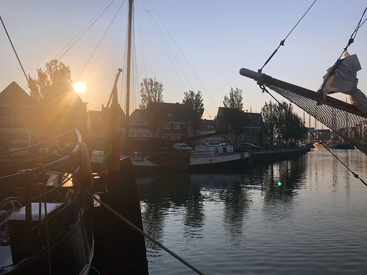 Zonsopkomst in Harlingen
