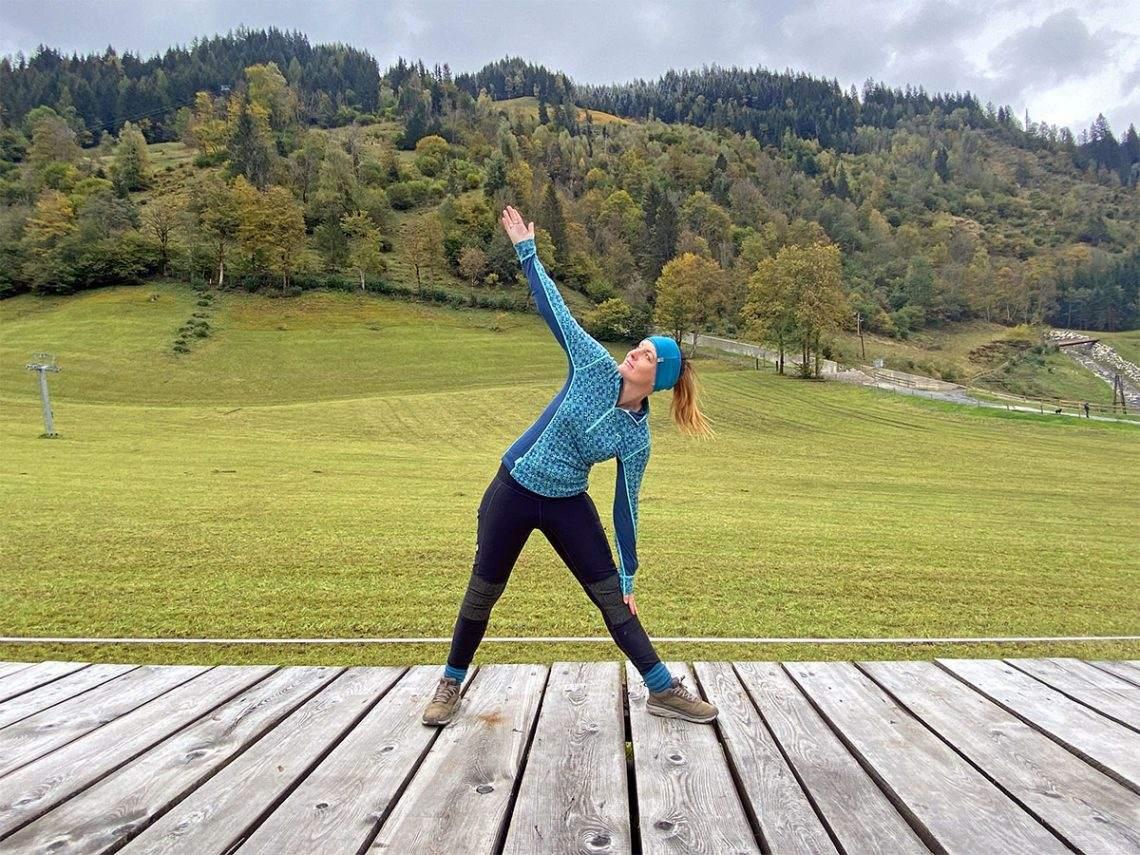 Yoga in de Alpen in gastein Oostenrijk