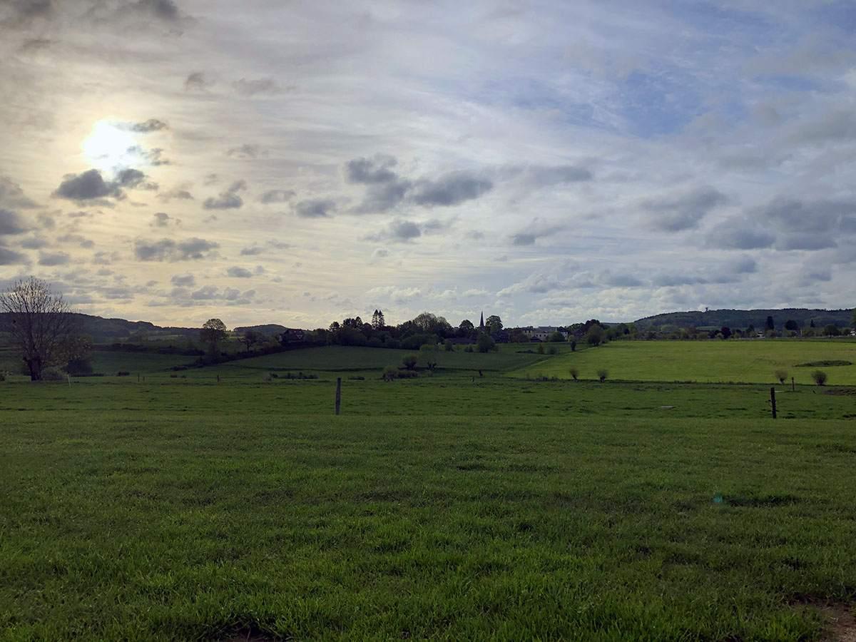 Uitzicht vanaf de camping in Vijlen