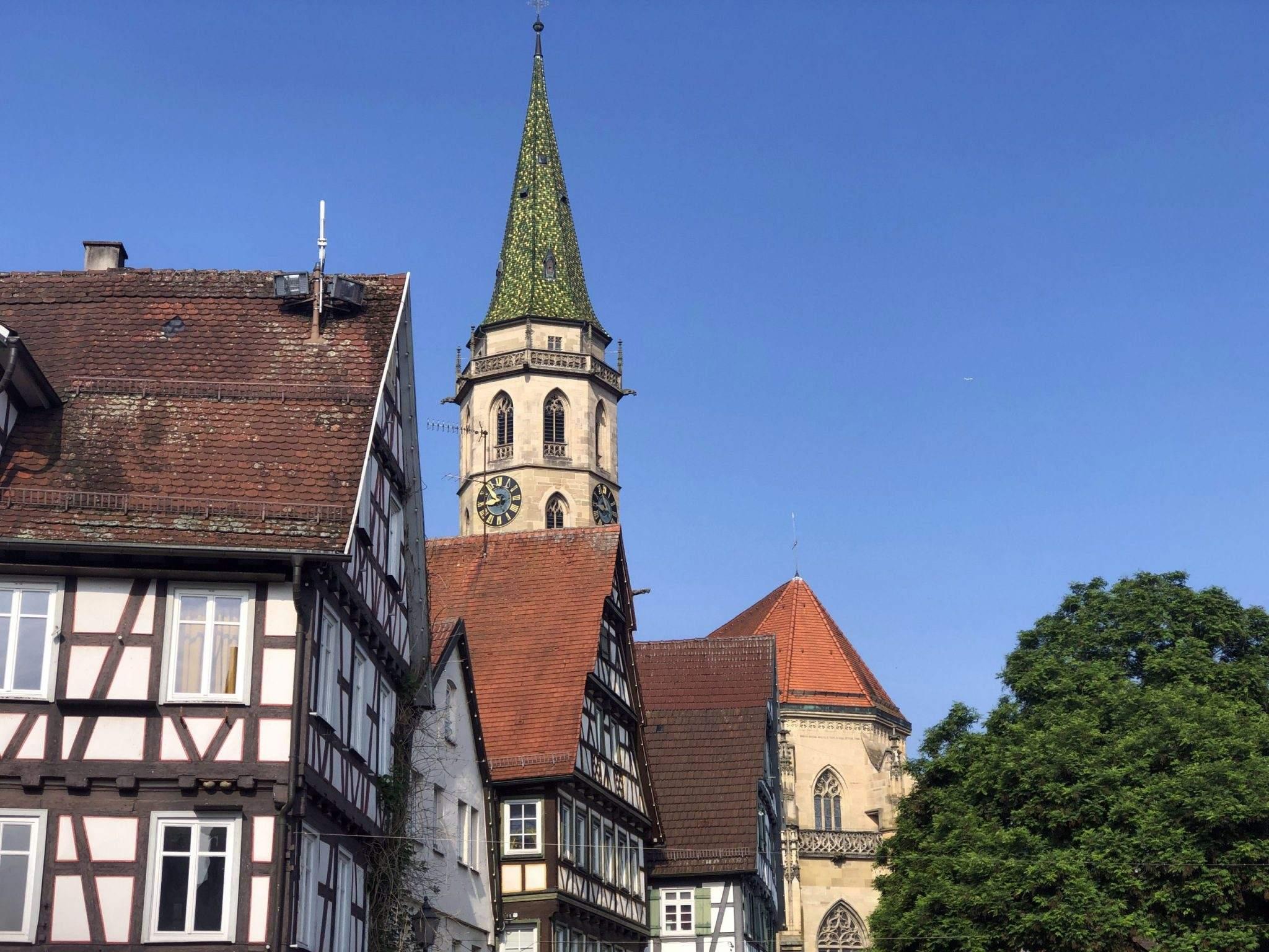 Het centrum van Schorndorf