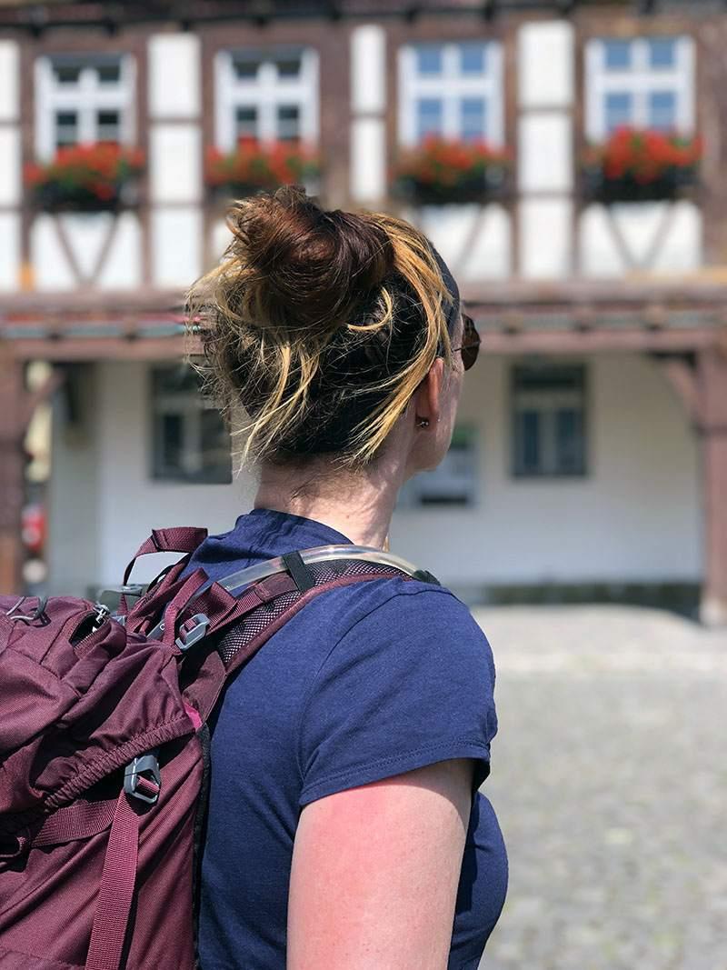 De vakwerkhuizen in Uhlbach