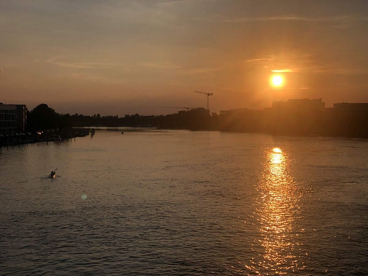Zonsondergang in Konstanz
