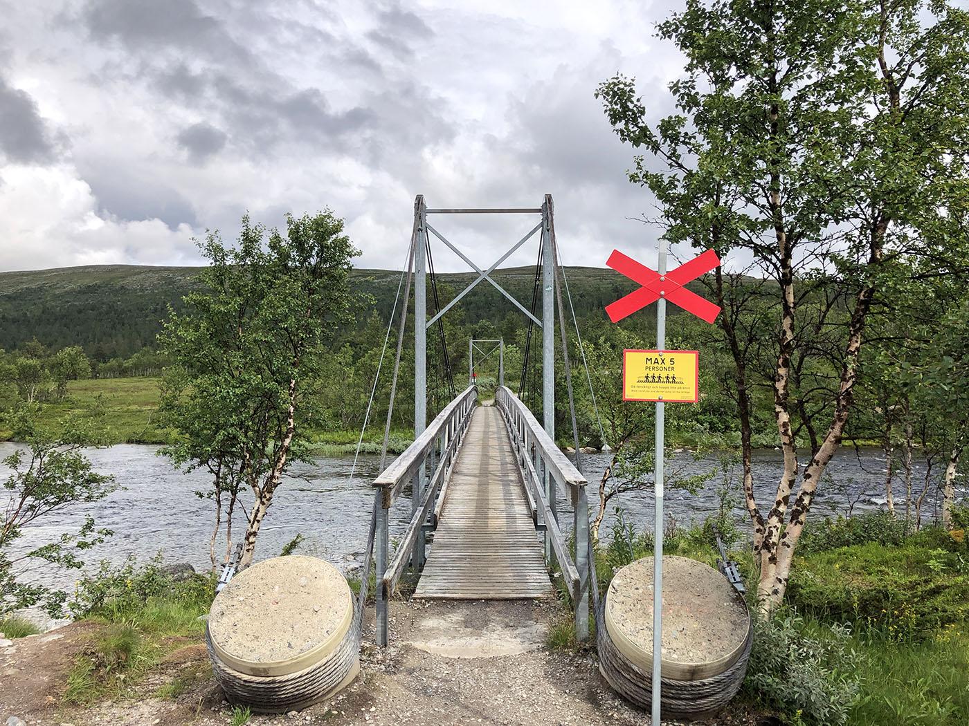 de hanbgrug in Grövelsjön Zweden