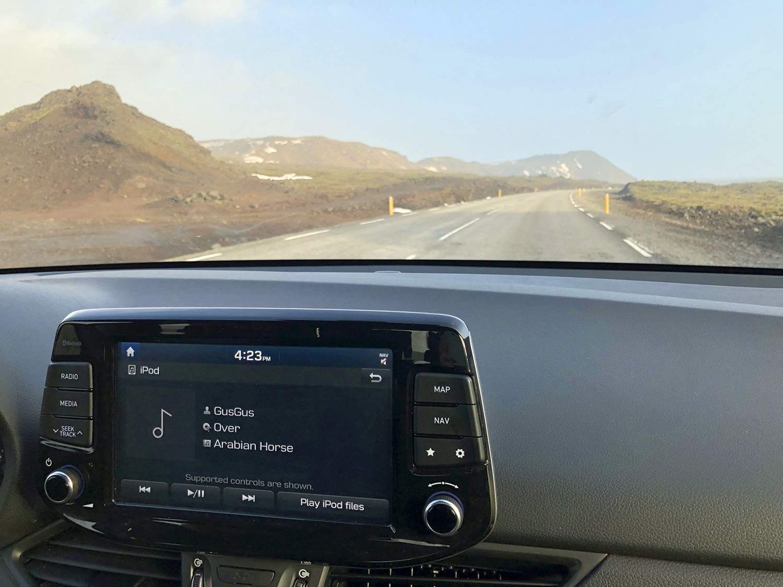 car rental tips iceland rental car music