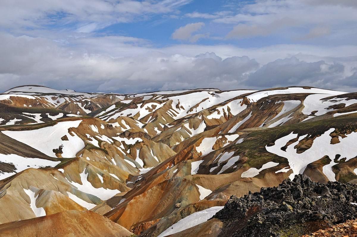 wandelingen in Landmannalaugar op IJsland